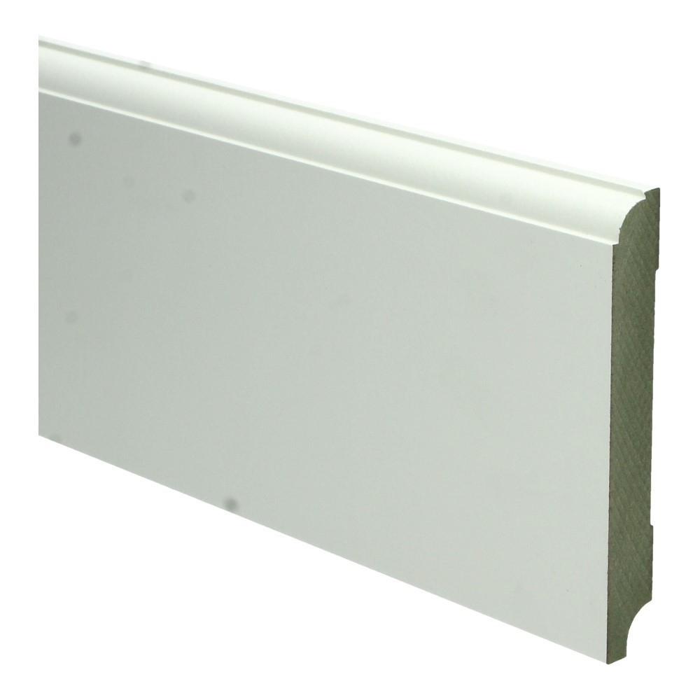 Eigentijdse plint 120x15mm wit