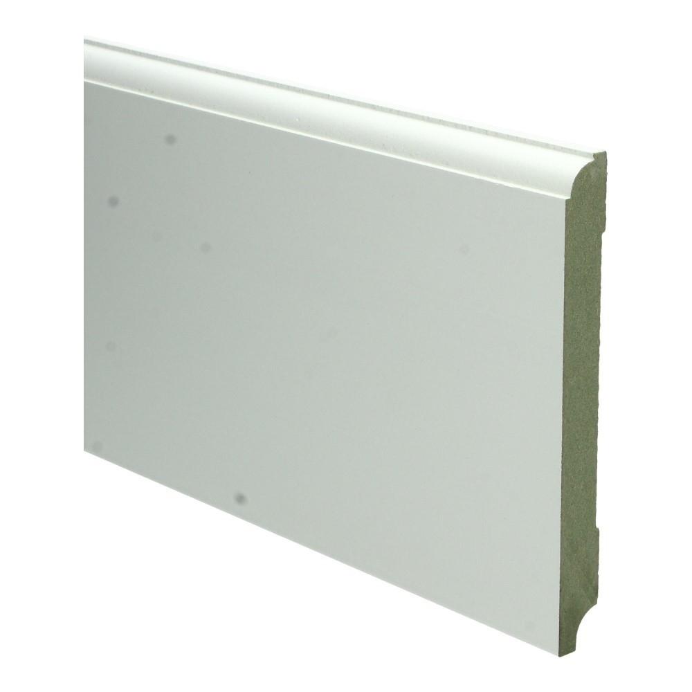 Eigentijdse plint 150x15mm wit