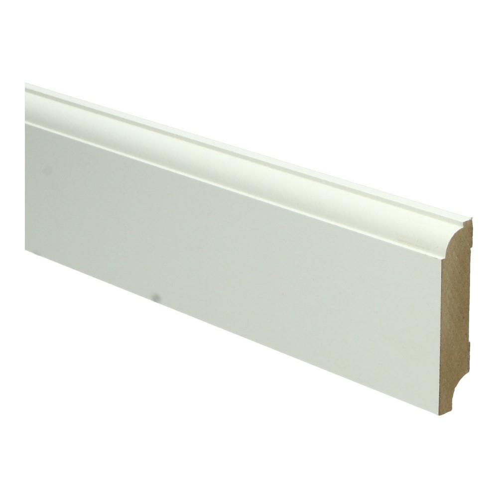 Eigentijdse plint 70x15mm wit