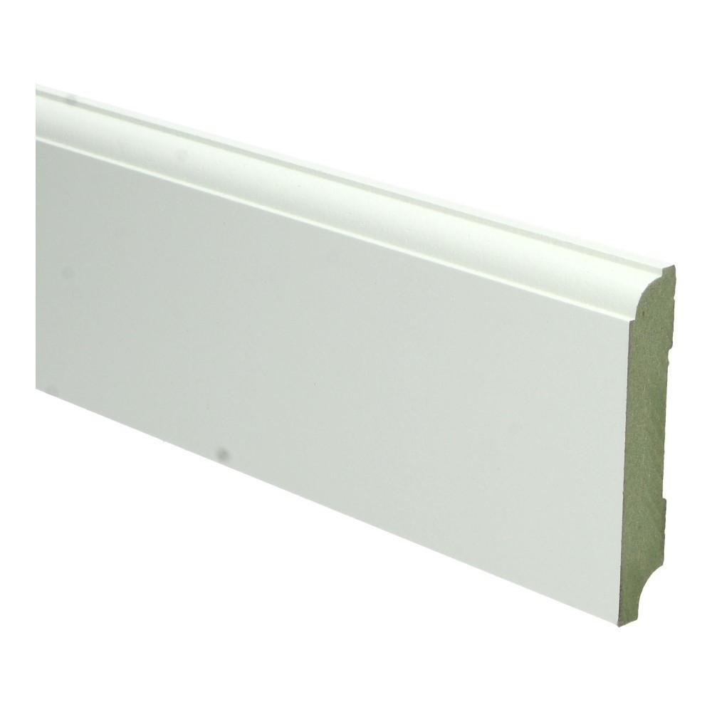 Eigentijdse plint 90x15mm wit