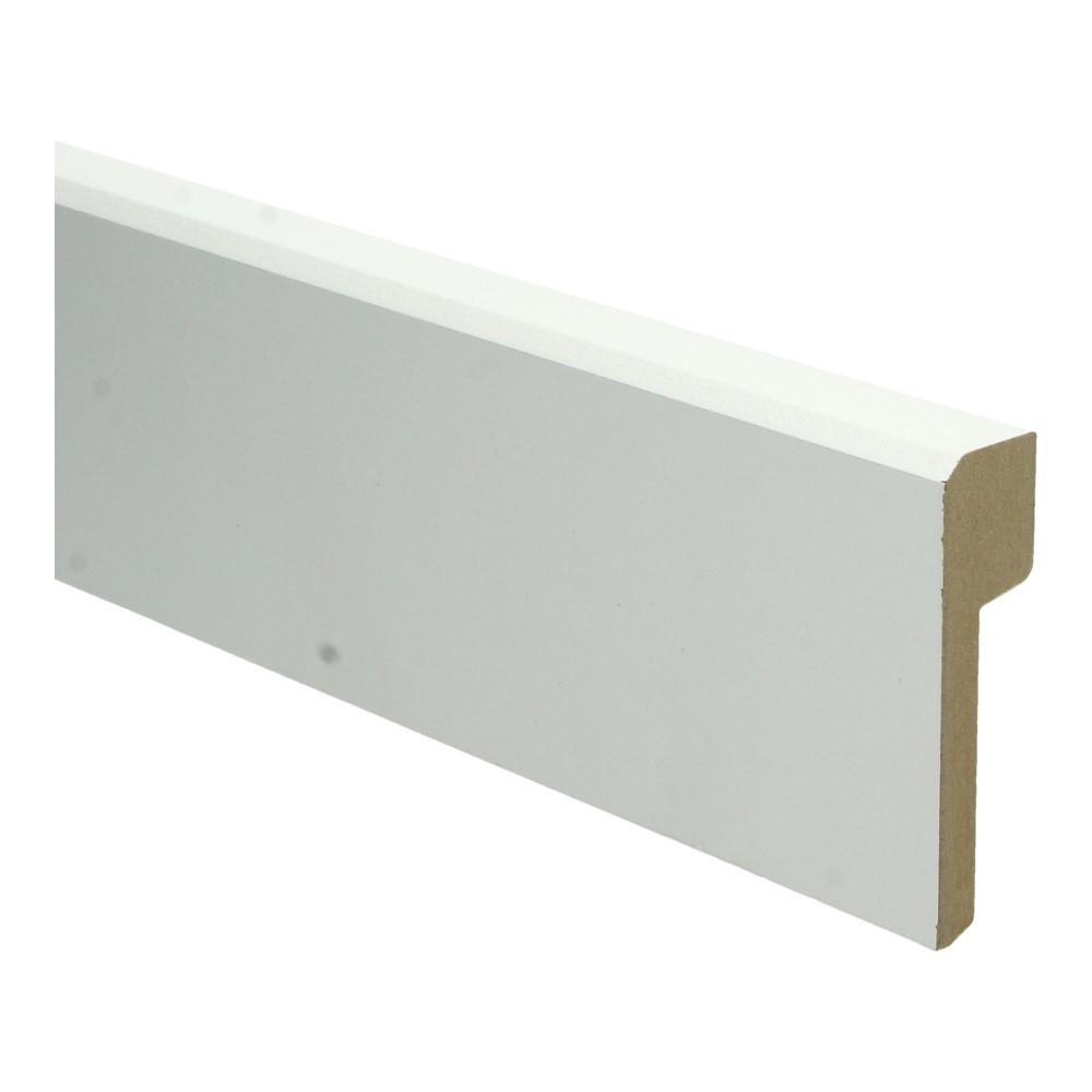Renovatieplint klassiek 85x22mm wit met uitsparing